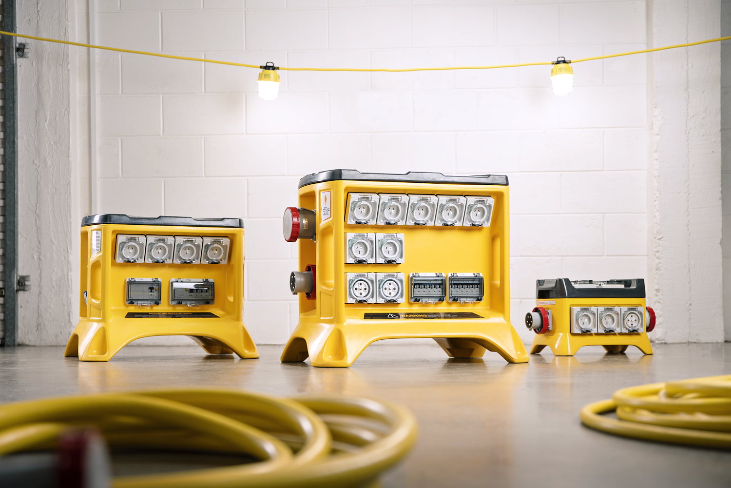Power Distribution Units range with cables and worklights